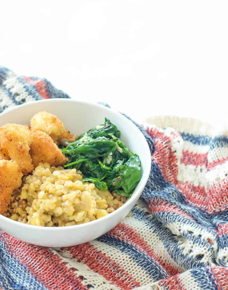 Lentil and Fried Cauliflower Curry Bowl-5