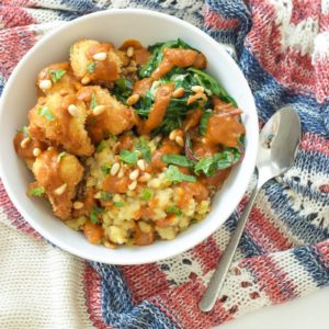 Lentil and Fried Cauliflower Curry Bowls