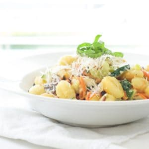 Fried Gnocchi and Creamy Vegetable Bowls