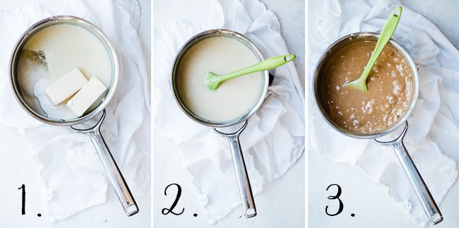 step by step instructions for caramel.