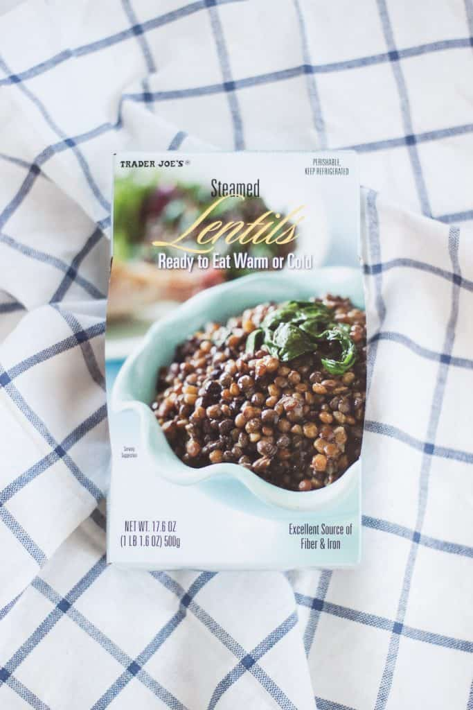 Ready to Eat Lentils from Trader Joe's
