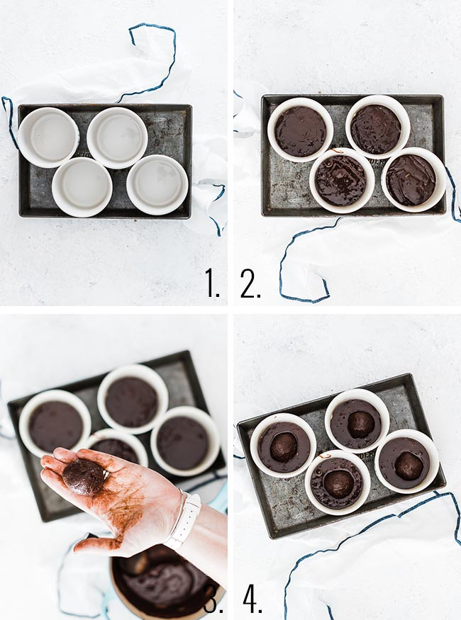 Molten Chocolate Cake Process.