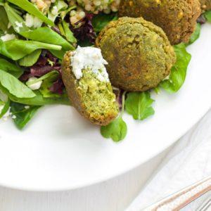 Falafel with Couscous Tabbouleh Salad