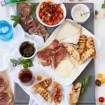 Spanish Tapas with Serrano Ham and Manchego Cheese