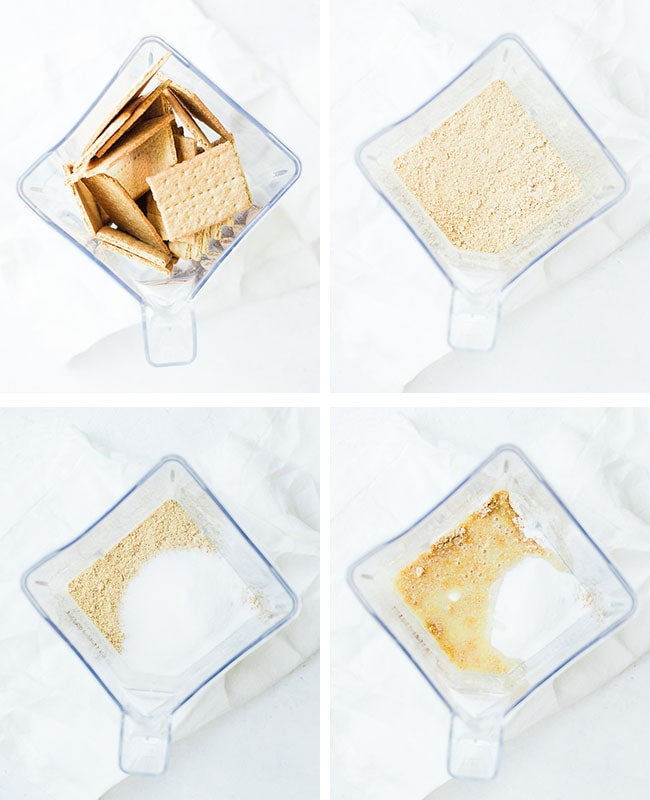 graham crackers being puled in blender
