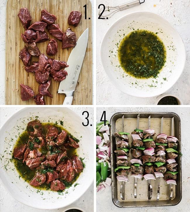 How to marinate lamb kabobs.