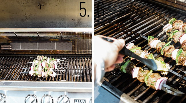 How to grill lamb kabobs.