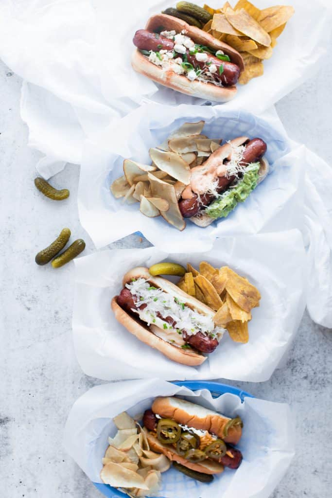 Gourmet Hot Dogs – Four Ways