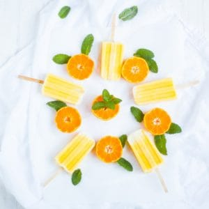 Orange Creamsicle Smoothie Pops