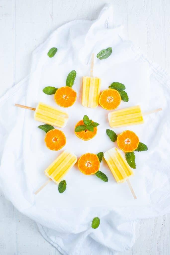 Orange Creamsicle Smoothie Pops