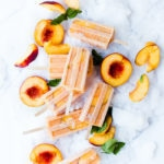 peaches and cream smoothie pops