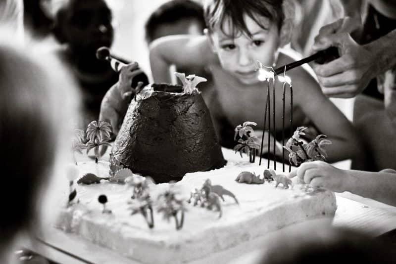 Dinosaur Cake With Exploding Lava Volcano Oh So Delicioso