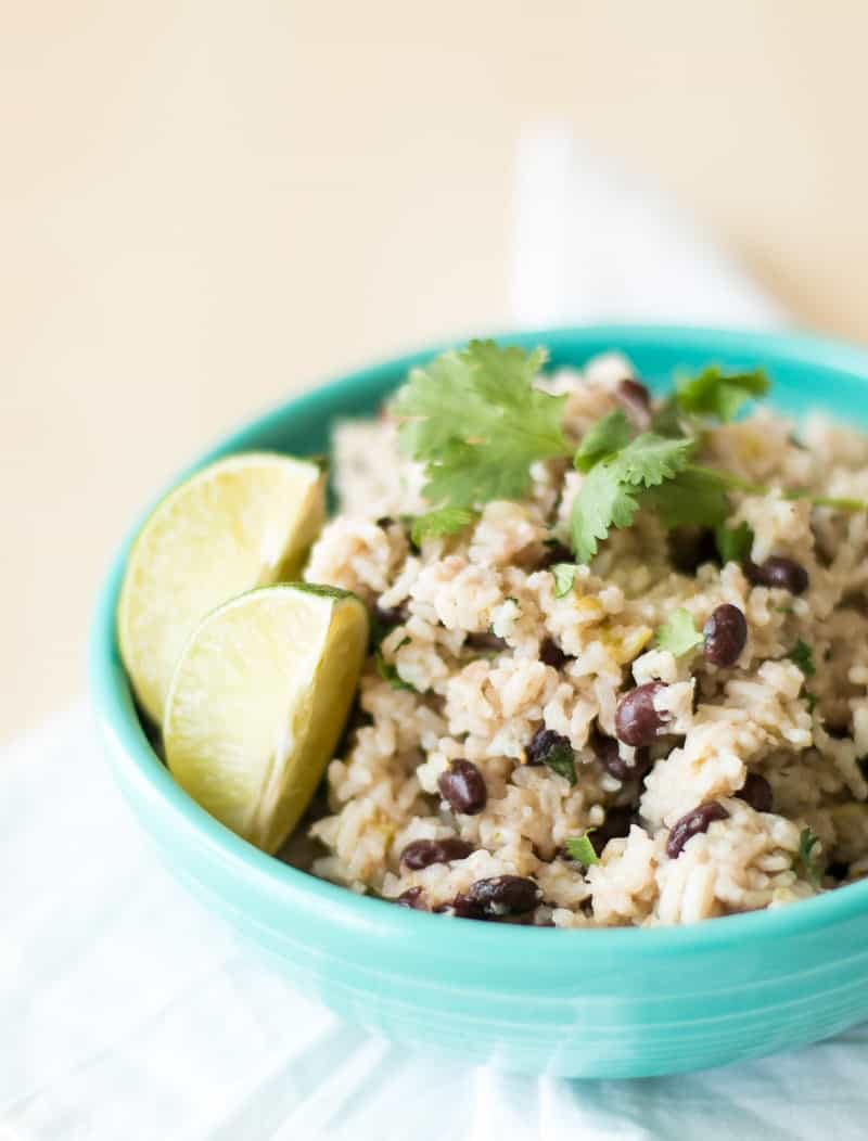 Pressure Cooker Black Beans and Rice