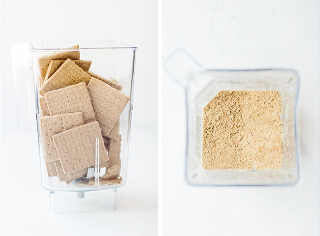 whole graham crackers being blended