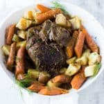 Pressure Cooker {Frozen} Roast Beef and Potatoes