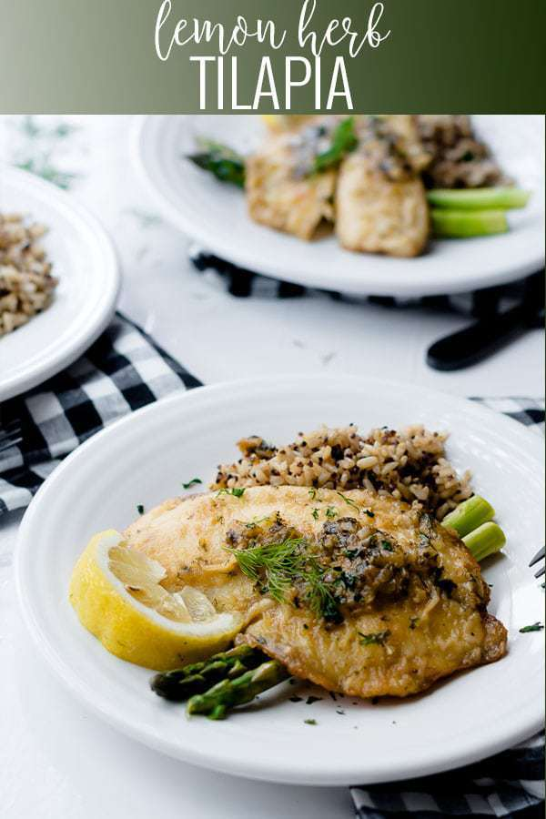 lemon herb tilapia pin