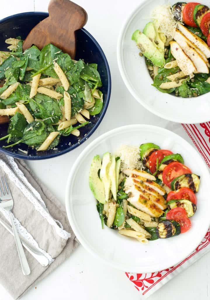 Balsamic Pasta Salad with Grilled Zucchini
