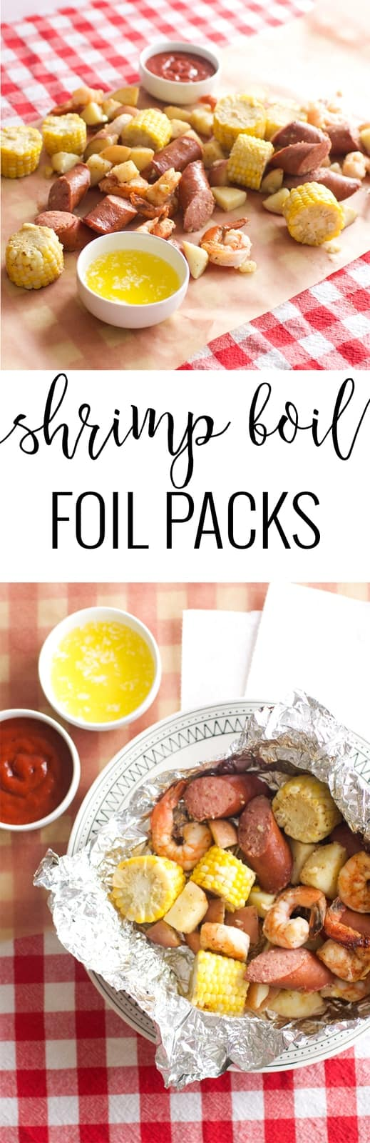 Shrimp Boil Foil Packs | foil packet meals | shrimp boil dinner ideas | easy shrimp boil recipes | foil dinner recipes | summer dinner recipes | homemade shrimp recipes | homemade summer recipe ideas | shrimp boil recipe ideas || Oh So Delicioso
