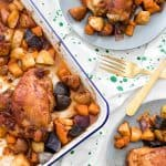 Spicy, Sticky Chicken with Roasted Apple and Potatoes