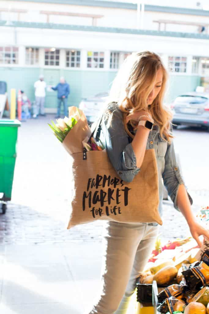 Farmer's Market Tote: MAJOR LABOR DAY SALE