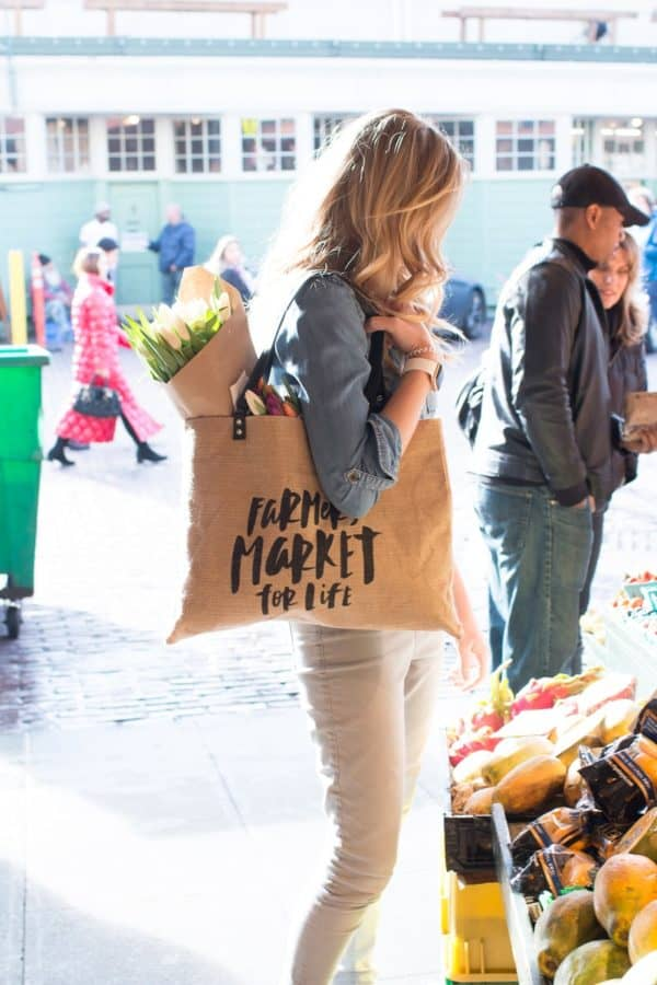 Jute Tote, shopping bag