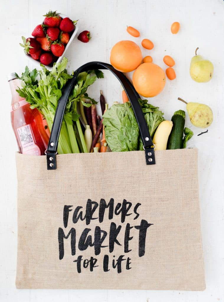 Jute Tote Shopping Bag | Farmers Market for Life Bag | jute totes and bags | high quality jute totes | stylish jute totes | stylish totes | totes for every occasion | stylish shopping bags || Oh So Delicioso