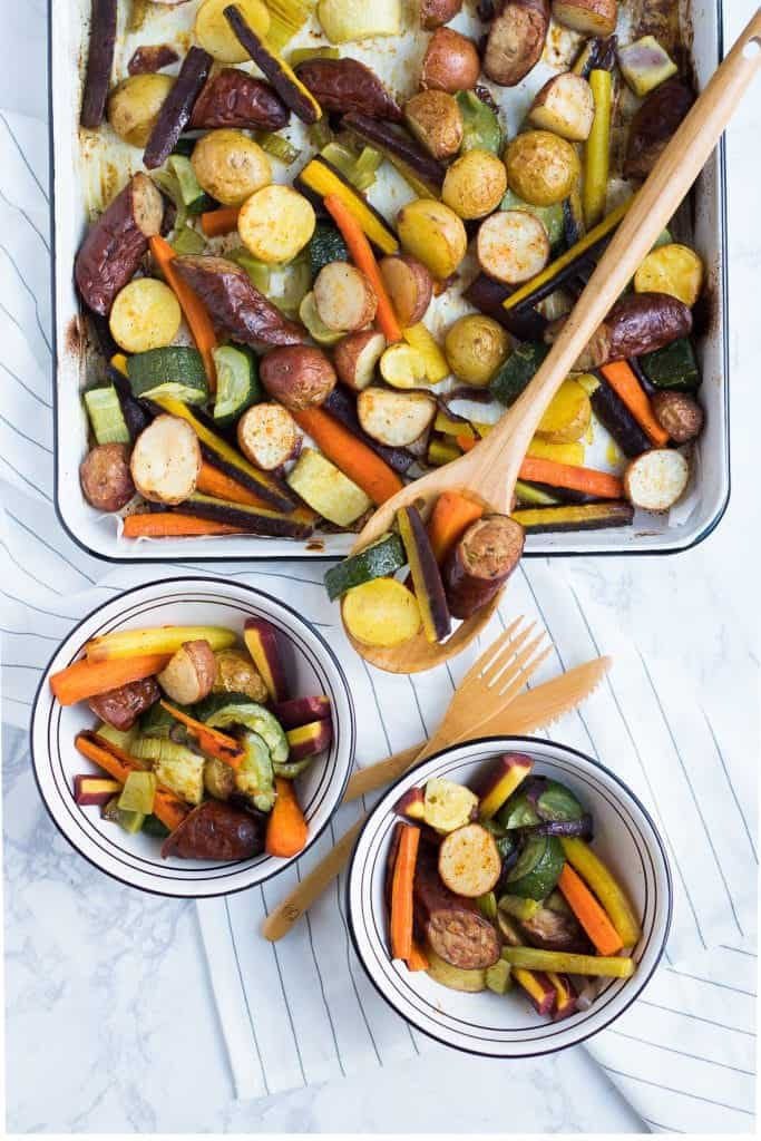 Sausage + Veggie Sheet Pan Meal