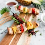 Disneyland Bengal BBQ Copycat – Sweet & Sour Kabobs and Bacon Wrapped Asparagus   how to make Disney's Bengal BBQ   copycat Disney recipes   homemade Disney recipes   Bengal BBQ skewer recipes   Disney recipes at home   how to recreate Disney Bengal BBQ   homemade kabob recipes   how to make a kabob   asparagus recipe ideas   how to make bacon wrapped asparagus   easy asparagus recipes    Oh So Delicioso