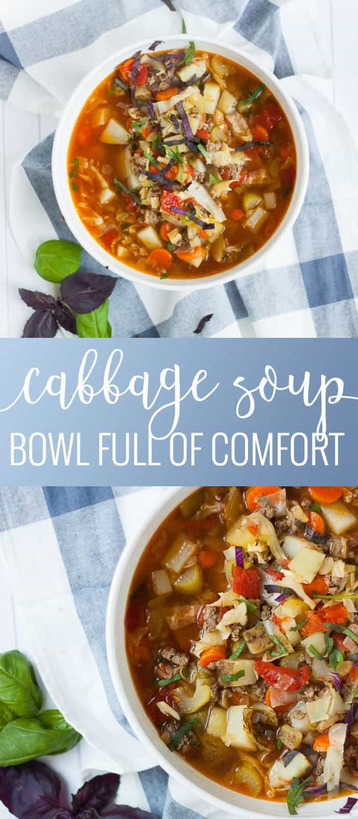 Cabbage Soup | comfort food recipes | homemade soup recipes | cabbage recipe ideas | cold weather soup recipes || Oh So Delicioso #cabbagesoup #souprecipes