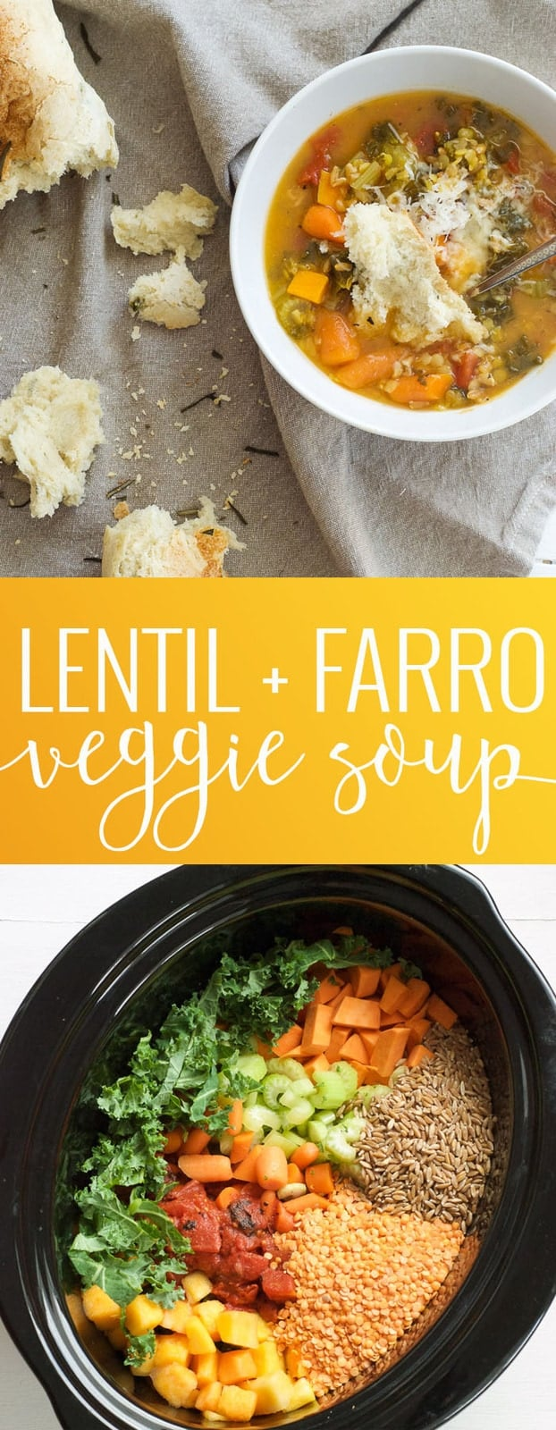 Lentil and Farro Vegetable Soup | homemade vegetable soup | vegetable soup recipe | easy soup recipes | homemade soup recipes | fall recipe ideas | cold weather recipes | simple soup recipes | easy dinner recipes || Oh So Delicioso #vegetablesoup
