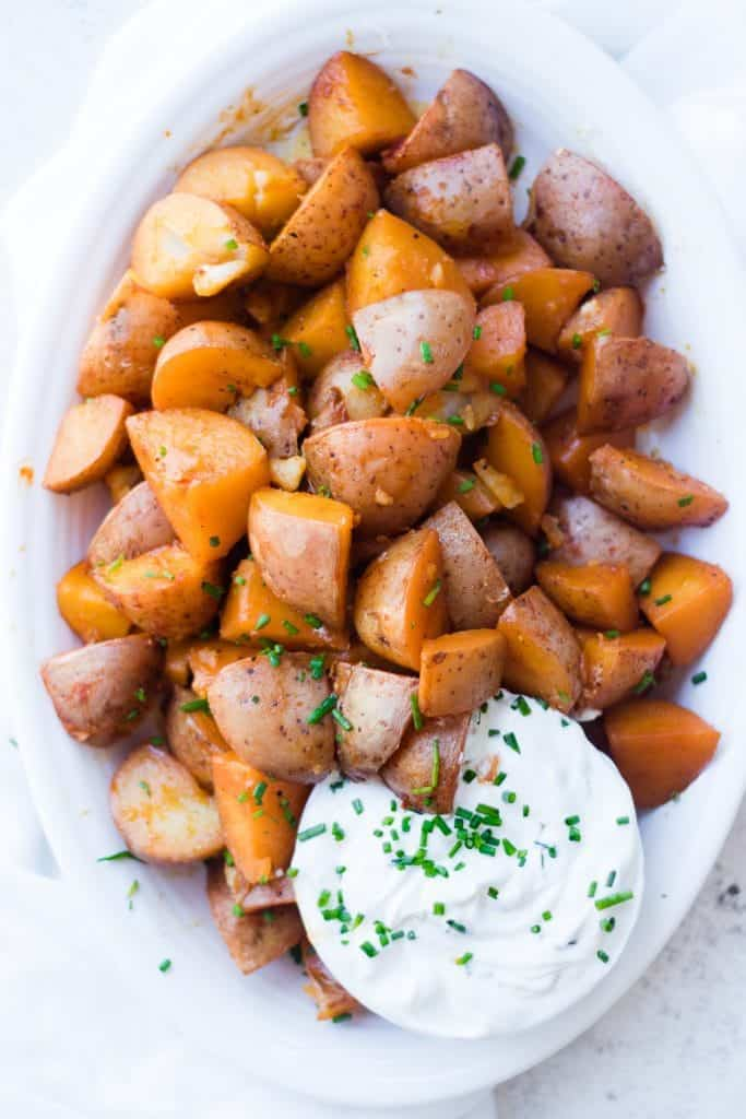 Pressure Cooker Seasoned Red Potatoes