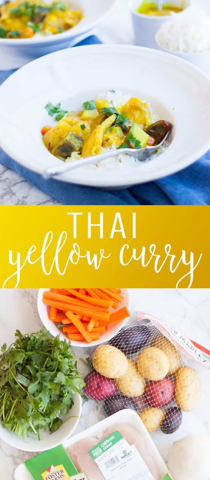 Thai Yellow Coconut Curry pinterest image