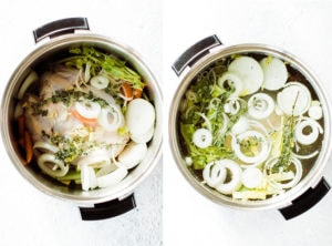 pictures demonstrating making stock