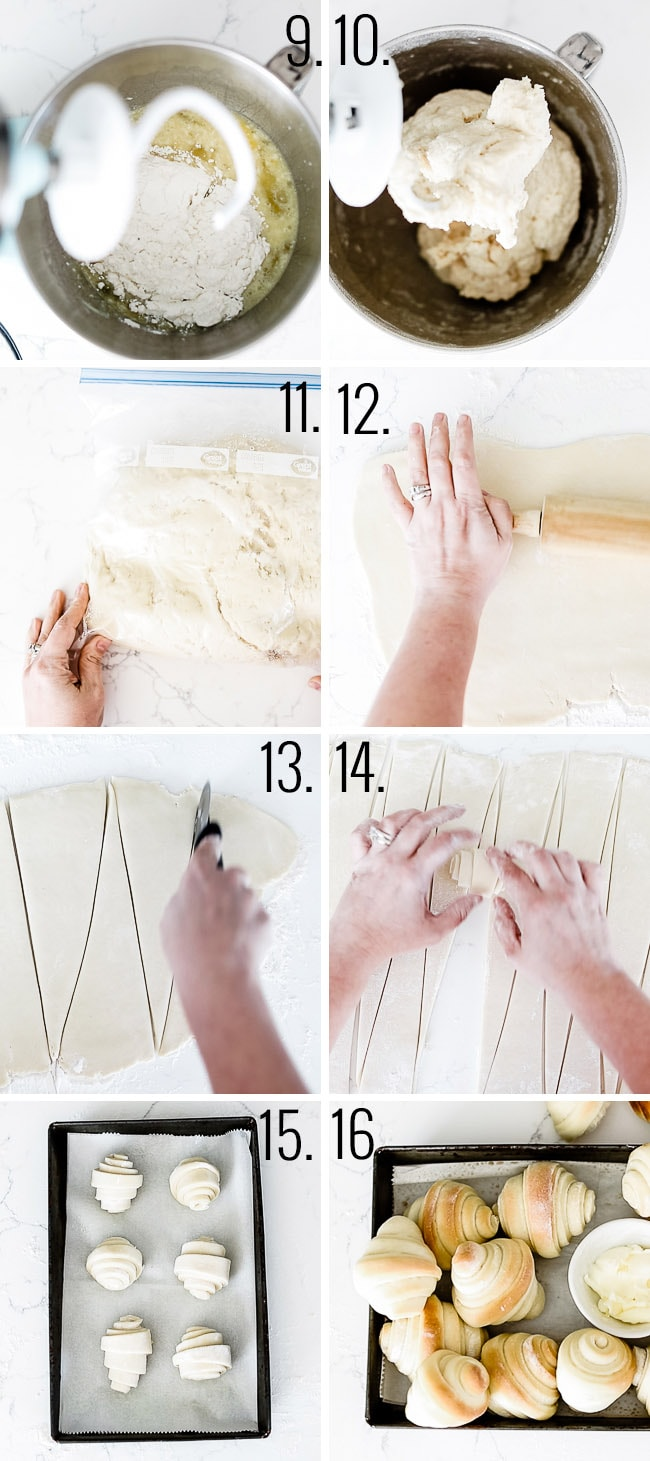 How to make homemade crescent rolls.