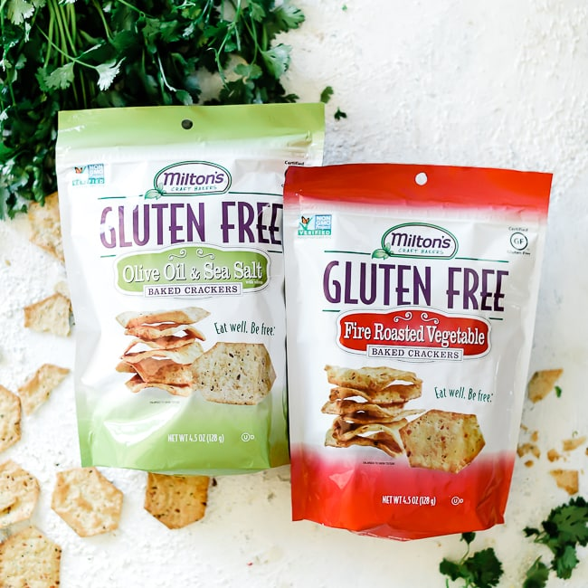 Milton's gluten free crackers in bags.