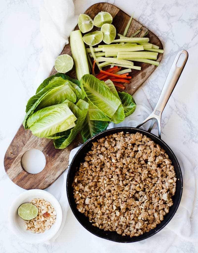Thai Lettuce Wraps ingredients for wraps