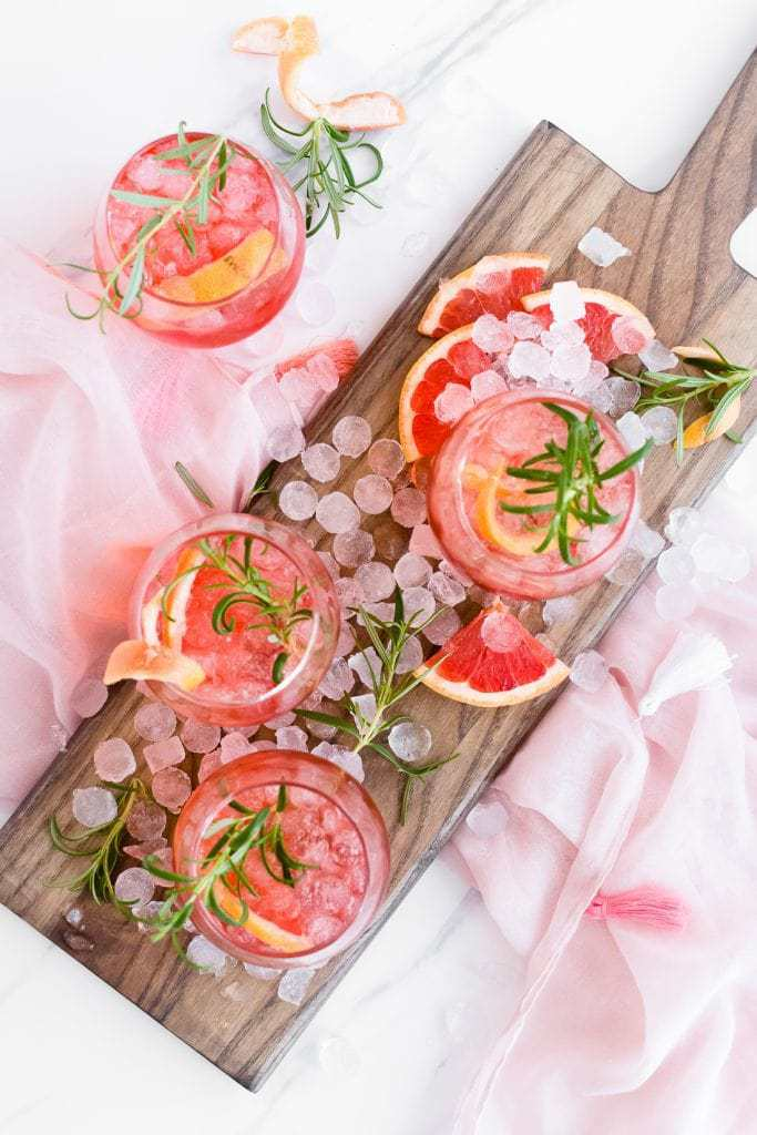 Ruby Red Grapefruit Sparkler