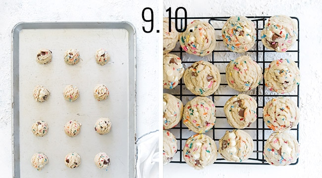 How to make birthday cake cookies.