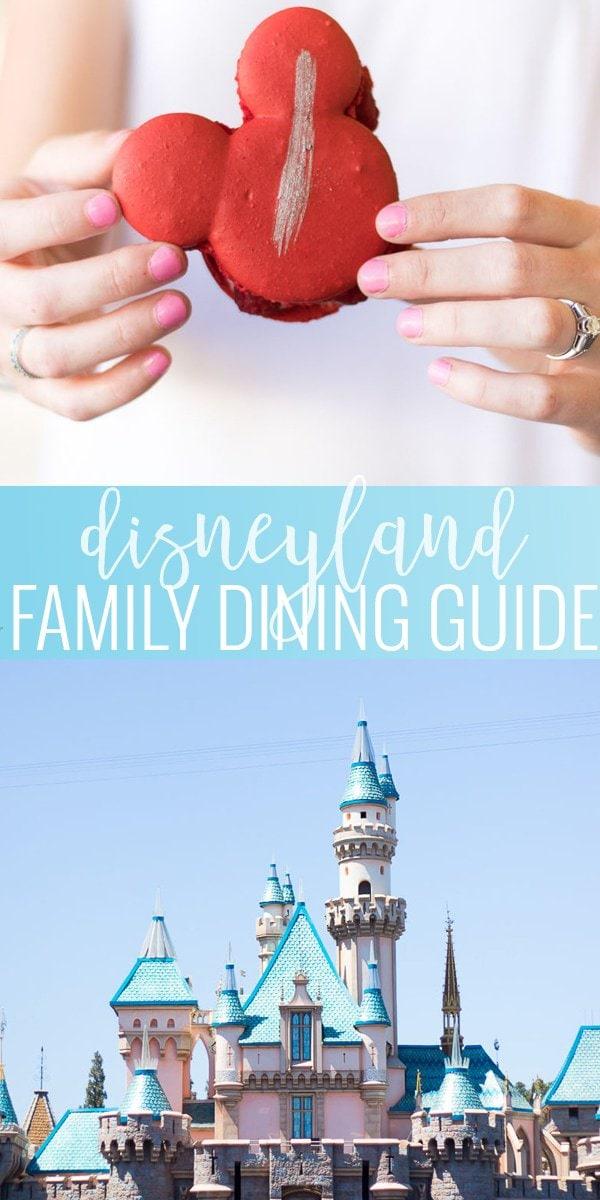 Disneyland Family Dining Guide pin