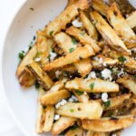 Garlic Parmesan Fries in a white bowl