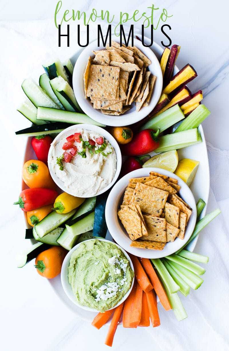 Lemon Basil Hummus pin