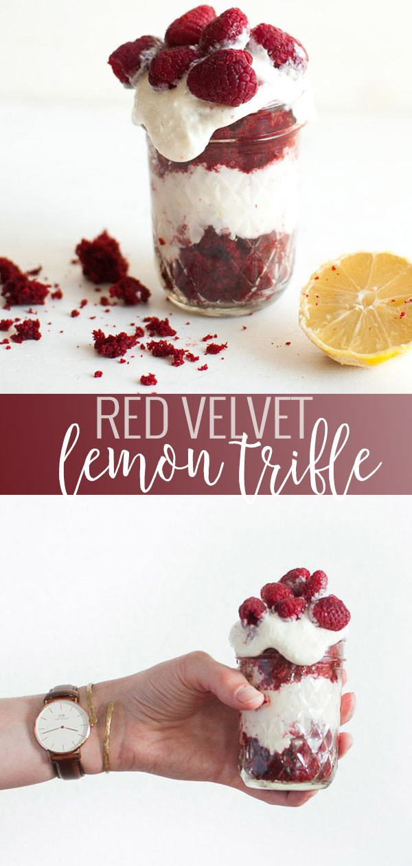 Red Velvet Lemon Trifle pin