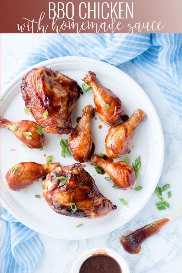 bbq chicken with homemade sauce pinterest image