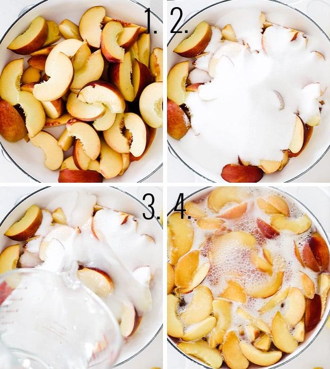 How to make peach puree