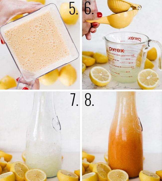 How to make peach lemonade.