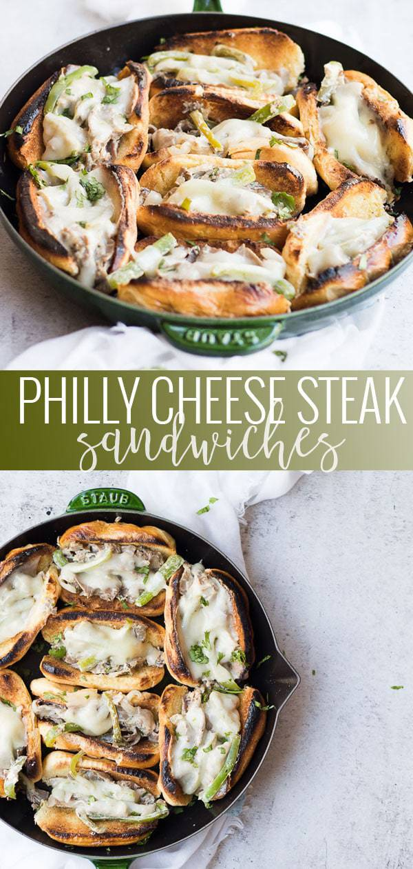 Philly cheese steak sandwiches pinterest image