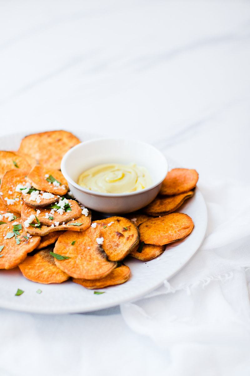 Crispy Sweet Potatoes & Dipping Sauce