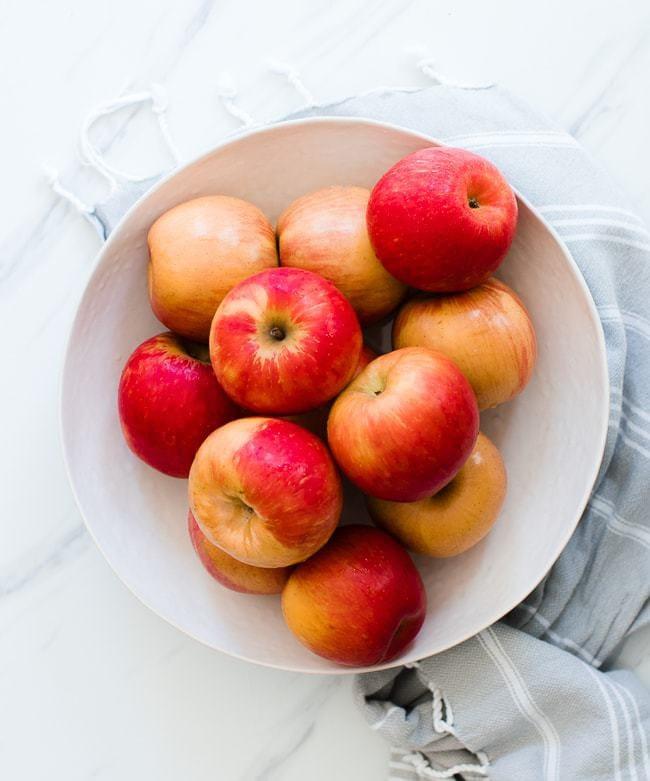 bowl of honey crisp apples