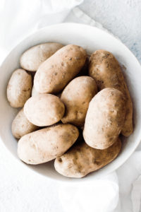 RUSSET potatoes im a bowl