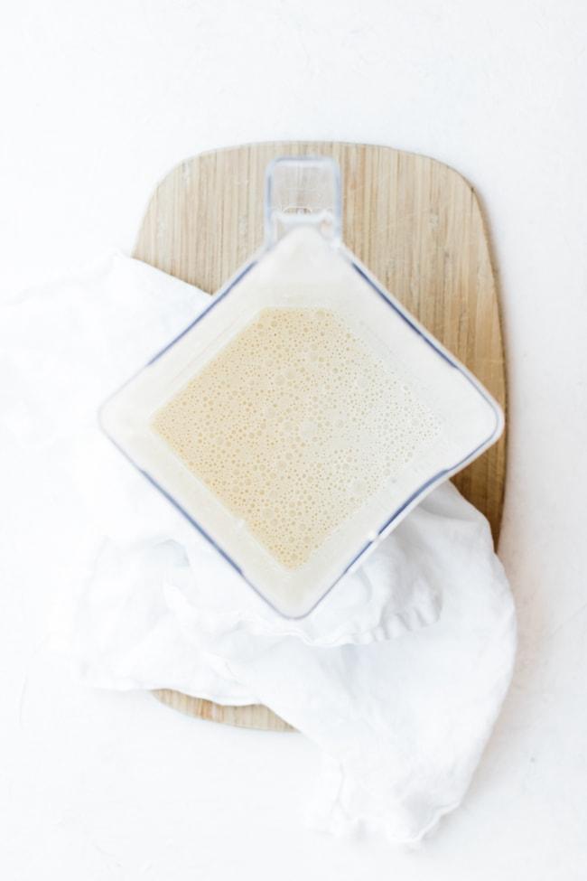 crepe batter blended in blender